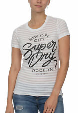Superdry Camiseta Mujeres Nueva York Burnout Tiras Camiseta de entrada OPTIC
