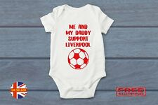 Liverpool FC Baby Grow Vest Sleepsuit Bodysuit Football Clothing Cute