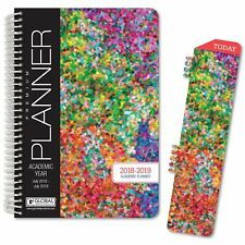 HARDCOVER Academic Year Planner 2018-2019 (Colorful)