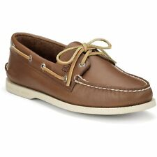 Sperry Authentic Original 2 Eye Homme Chaussures Mocassins - Tan Leather