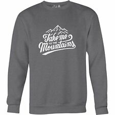 The Level Collective Take Me To Mountains Unisexe Pull Sweater - Slate