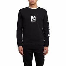 Volcom Supply Stone Crew Homme Pull Sweater - Black Toutes Tailles