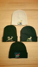 4x DESIGN'S SPRINGBOKS RUGBY BEANIE HATS SOUTH AFRICA ONE SIZE FITS ALL