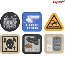 VIPER TACTICAL MORALE PATCH HOOK & LOOP PVC BADGE FUNNY UK ARMY PAINTBALLING