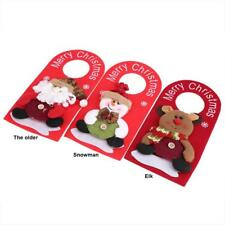 Hanging Ornaments Santa Claus Hollow Door Hanging Christmas Tree Home Decoration