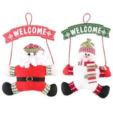 Christmas Ornaments Door Hanging Santa Claus Snowman Christmas Tree Decorations