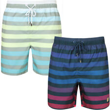 New Mens South Shore Branded Homestead Summer Striped Swim Shorts Size S - XXL