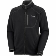 Columbia Altitude Aspect Full Zip Mens Jacket Fleece - Black Heather All Sizes