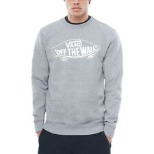 Vans Off The Wall Crew Mens Jumper - Cement Heather White Outline All Sizes