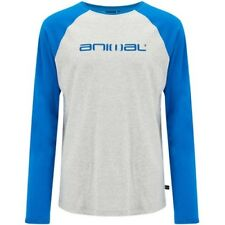Animal Action Mens T-shirt Long Sleeve - Snorkel Blue All Sizes