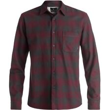 Quiksilver Motherfly Flannel 2016 Mens Shirt Long Sleeve - Tarmac All Sizes