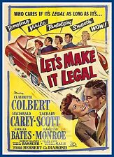 Lets Make It Legal   1950's Movie Posters Classic Cinema