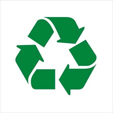 Recycle recycling logo symbol vinyl wheelie bin decal stickers