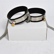Stainless Steel Two Thighs Rings with D-rings Put on the Chastity Belt C-Belt