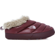 North Face Nuptse Tent Mule Ii Fur Womens Footwear Slipper - Shiny Deep Garnet