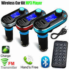 Kit de coche manos libre Bluetooth transmisor FM reproductor de MP3 Cargador USB