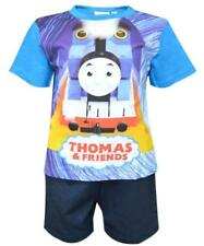 Boys Thomas and Friends Short Pyjamas Set Summer Shorty Nightwear PJ Age 2-5Yrs