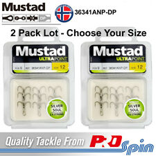 2 Pack Lot Mustad Treble Hooks Silver Soul 2X Strong 36341ANP-DP Choose Size