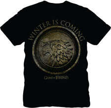 Game of Thrones Game Of Thrones Winter Is Coming Mens Lightweight Black T-Shirt