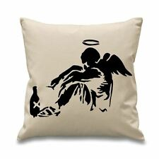 "Banksy Fallen Angel 18"" x 18"" Filled Sofa Throw Cushion"