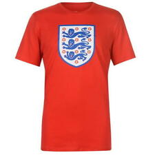 MENS RED NIKE ENGLAND CREST GRAPHIC SHORT SLEEVE CREW NECK T SHIRT TEE SHIRT