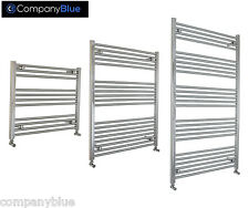 700mm Wide Central Heating Towel Rail Radiator Chrome Straight Curved Bathroom *