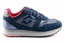 Lotto Leggenda Scarpe Sneaker Slice Denim W Donna T4617 BLU Primavera Estate 201