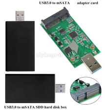 USB 3.0 to Mini PCIE mSATA SSD Hard Disk Box External Converter Data Adapter