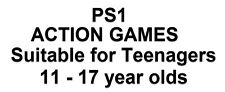 Action Sony PS1 Games Suitable for Teenagers(11-17years)Choose Game From List
