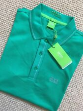 "HUGO BOSS GREEN LABEL GREEN SLIM ""PAULE"" GOLF POLO SHIRT TOP - SMALL - NEW TAGS"