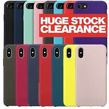 Genuine Official New Soft Silicone Case Cover FOR Apple iPhone X 8 8 Plus Boxed