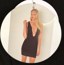 Finders Keepers The Creator Plunging Neckline Black Dress size S a7066e88a