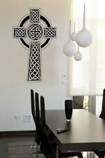 Ornamental Celtic Cross Large Wall Sticker Vinyl Decal Decor Art Decoration UK