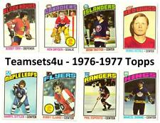 1976-77 Topps Hockey Set ** Pick Your Team ** See Checklist in Description **