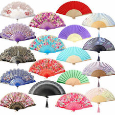 Chinese Spanish Type Dance Wedding Party Prom Hand Held Lace Silk Flower Fan HOT