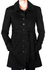 VOLCOM Green Room Trench black coat jacket woman giacca donna nera _