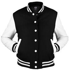 URBAN CLASSICS black/white college oldschool jacket woman giacca donna _