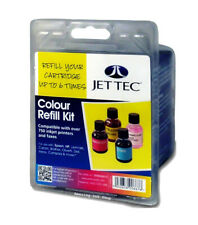 Jet Tec R27 Colours ink Refill Kit bottles For Brother Canon Dell Epson HP Lexma