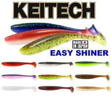 Fishing Lures KEITECH EASY SHINER Soft Plastic Shad Paddle Tail Jig Heads Bait