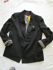 sale-biba Blazer Black CS 0622 NERO 38 TGL / 40 UK12 NUOVO
