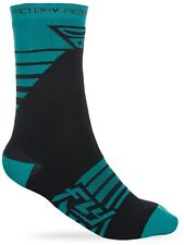 Calcetines MX Fly Racing 2018 Factory Rider Teal-negro