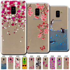 Protected Soft Clear Silicone Painted Skin Back Slim TPU Case Cover For Samsung