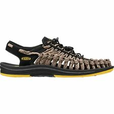 Keen Uneek Flat Cord Homme Chaussures Tongs - Yellow Camo Toutes Tailles