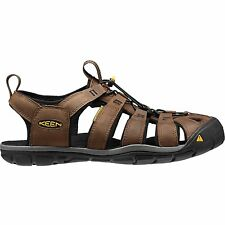 Keen Clearwater Cnx Leather Homme Chaussures Tongs - Dark Earth Black