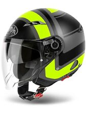 Casco abierto moto Airoh 2018 City One - Urban Jet Wrap Amarillo Matte