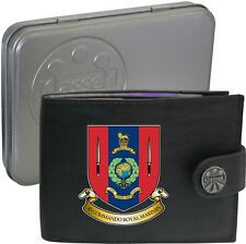 Royal Marines 45 Commando  on Mens Wallet Real Leather RFID Chain Keyring
