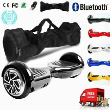6,5'' HOVERBOARD SMART SCOOTER DUELLO MOTORE LUCI LED BLUETOOTH + BORSA NEW @XFL