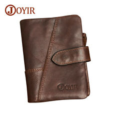 JOYIR Brand Purse Cow Leather Short Wallet Men Vintage Wallet Genuine Leather