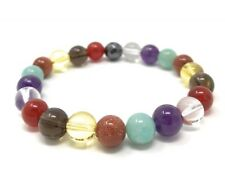 Law of Attraction Power Bead Bracelet Healing Crystal Gemstones Size Choice