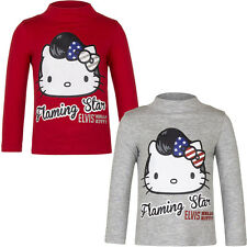 Manga Larga Camiseta De Chica Winter Jersey Hello Kitty Gris Rojo 98 104 116 128